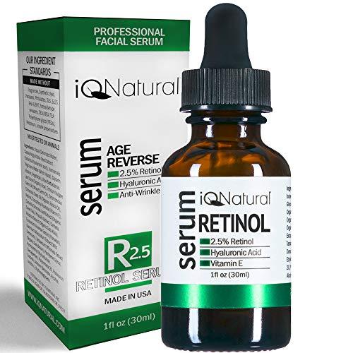 Retinol Serum 2.5 with hyaluronic acid For Face, Organic Aloe Vera, Vitamin E - Retinol Moisturizer, Fade Dark Spots, Reduce Fine Lines, Wrinkles - Nightly & Daily Anti Aging 1 fl oz