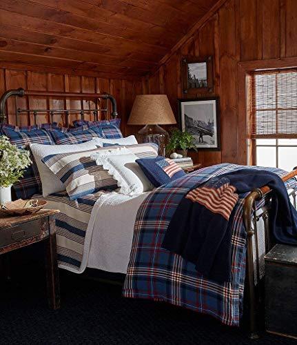 Ralph Lauren Plaid Fabric - Ralph Lauren Saranac Peak Collection - KING Bentwood Plaid Comforter
