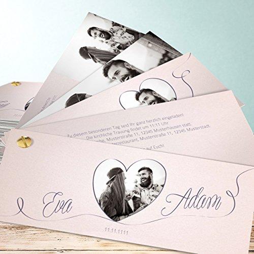Hochzeit Einladungskarten Vintage, Leichtigkeit 110 Karten, Kartenfächer  210x80 Inkl. Weißer Umschläge, Rot: Amazon.de: Küche U0026 Haushalt