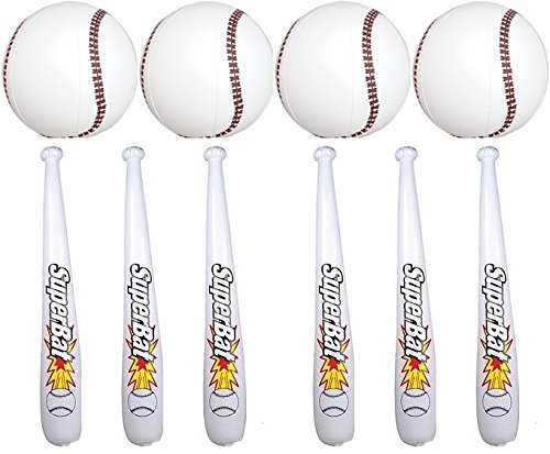 - 24 Pc Set of Inflatable Baseball Bats and Baseballs