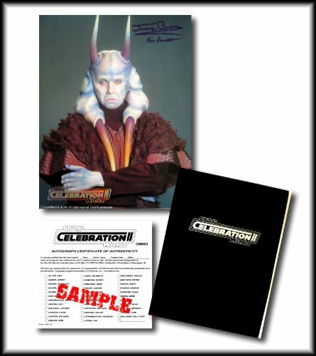 Star Wars Hand Signed Autographed Photo of JEROME BLAKE as MAS AMEDDA - from the Star Wars Celebration II Convention