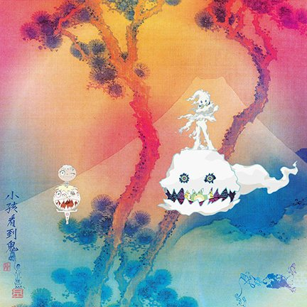 Lost Posters ALBUM COVER POSTER kanye west KIDS SEE GHOSTS kid cudi 2018 giclee RECORD LP REPRINT #'d/100!! 12x12 by Lost Posters