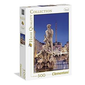 Clementoni 30445 Puzzle Hqc Roma Piazza Navona 500 Pezzi