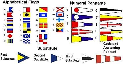 Vintage código internacional bandera de banderas – Juego de 40 – 100% original – Náutico del Barco/marítimo/Marine/Barco/barco/barco/decoración náutica: Amazon.es: Oficina y papelería
