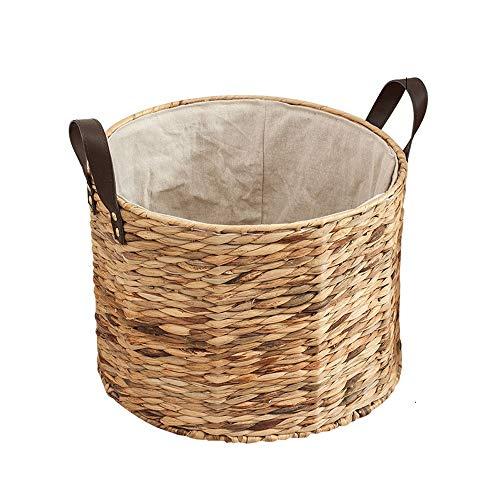 - Storage Basket Clothes Storage Basket Handmade Straw Storage Bucket Laundry Basket Diaper Basket (Size : B)