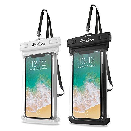 - ProCase Universal Waterproof Case Cellphone Dry Bag Pouch for iPhone Xs Max XR XS X 8 7 6S Plus, Galaxy S10 Plus S10 S10e S9+/Note9, Pixel 3 XL up to 6.5