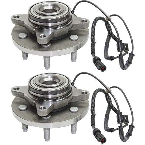 Wheel Hub and Bearing For 2009-2010 Ford F-150 Front Left and Right RWD With ABS Sensors Lug Bolts (Right Hub Bolt)