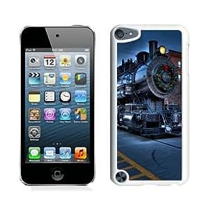 Custom Design Christmas City Locomotive Railway White iPod Touch 5 Case 1