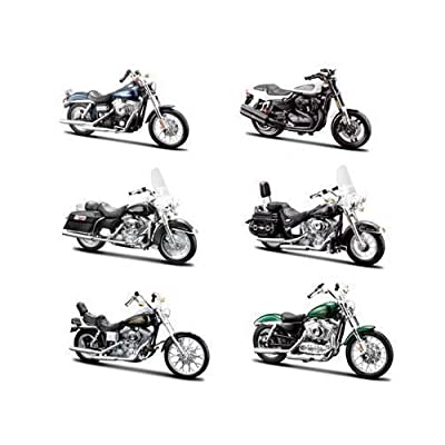 6 Piece Harley Davidson Motorcycle 6pc Set Series 32 1/18 by Maisto 31360-32: Toys & Games