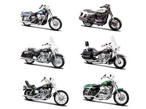6 Piece Harley Davidson Motorcycle 6pc Set Series 32 1/18 by Maisto 31360-32