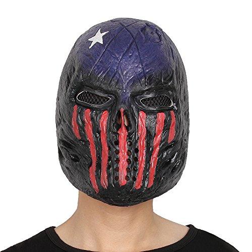 Modern Costume Strange Dr (Halloween Alien Skull Mask Jedi Creepy Party Costume Latex Full Head Kids Men and Women)