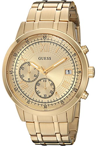 GUESS-Mens-Quartz-Stainless-Steel-Casual-Watch-ColorGold-Toned-Model-U1001G2