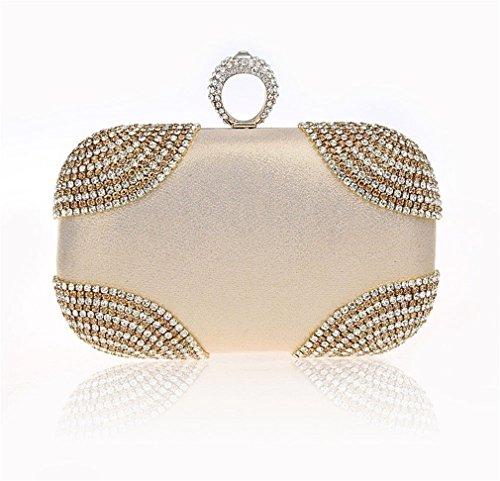 Rhinestones Clutch Women Evening Shoulder Purse Evening Wedding Purse Handbags Diamonds Ym1012mult Party Bags Chain Zn0qSq