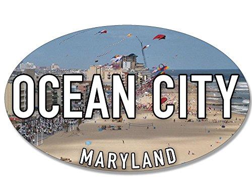 American Vinyl Oval Ocean City Sticker (Maryland md Beach sea Coast Coastal Logo)