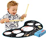 Click N Play Kids Electronic Touch Sensitive Play Mat Drum Set With Real Drum Sounds