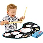Click N Play Kids Electronic Touch Sensitive Play Mat Drum Set With Real Drum Sounds 1