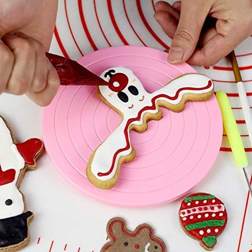 Elevin(TM)  Mini Cake Plate Revolving Platform Turntable Round Rotating Swivel Baking Cute