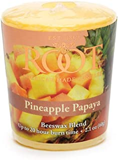 product image for Root Candles 20-Hour Scented Beeswax Blend Votive Candles, 18-Count, Pineapple Papaya