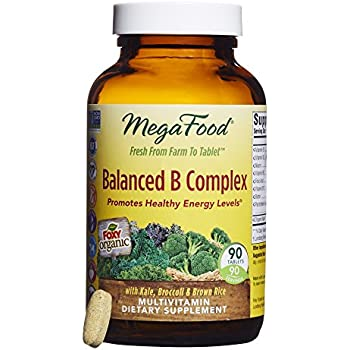 MegaFood - Balanced B Complex, Energy Support with B Vitamins, Biotin, and Folate, 90 Tablets (FFP)