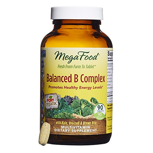 Megafood   Balanced B Complex  Energy Support With B Vitamins  Biotin  And Folate  90 Tablets