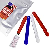 Scotty Peelers Label & Sticker Remover - 3 Plastic Red, White, Blue and 1 Metal Blade with Cover
