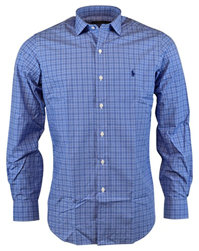 Polo Ralph Lauren Mens Classic Fit Button Front Shirt - Liquid Blue - S