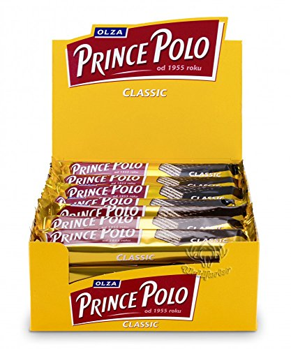 Chocolate Covered Wafer - Prince Polo Dark Chocolate Covered Wafer Classic 35g (Pack of 32 bars)