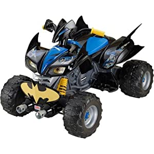 Fisher-Price Power Wheels DC Super Friends 12-Volt Battery-Powered Kawasaki Batman ATV