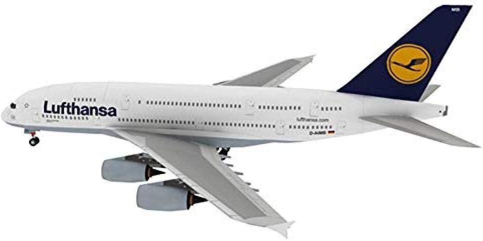 HNJing Geschenk 16Cm Deutsch Lufthansa A380 Passagierflugzeug Papier Modell Airbus A380 Zivilluftfahrt Passagiere Airbus Collection