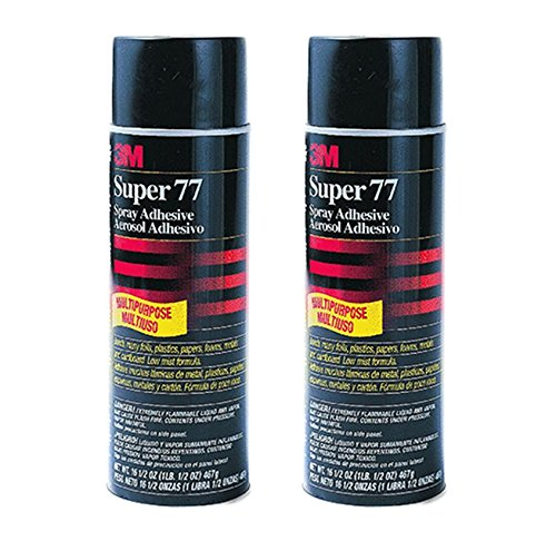 2-Pack 3M Super 77 Multi-Purpose Adhesive, 7.3 fl oz, Aerosol