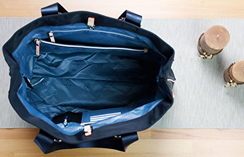 Bolso Tipo Azul Marino Compartimento Lido Bugatti Con Señora Rfid «shopper» De Ladies Llavero IwxPqPaEv
