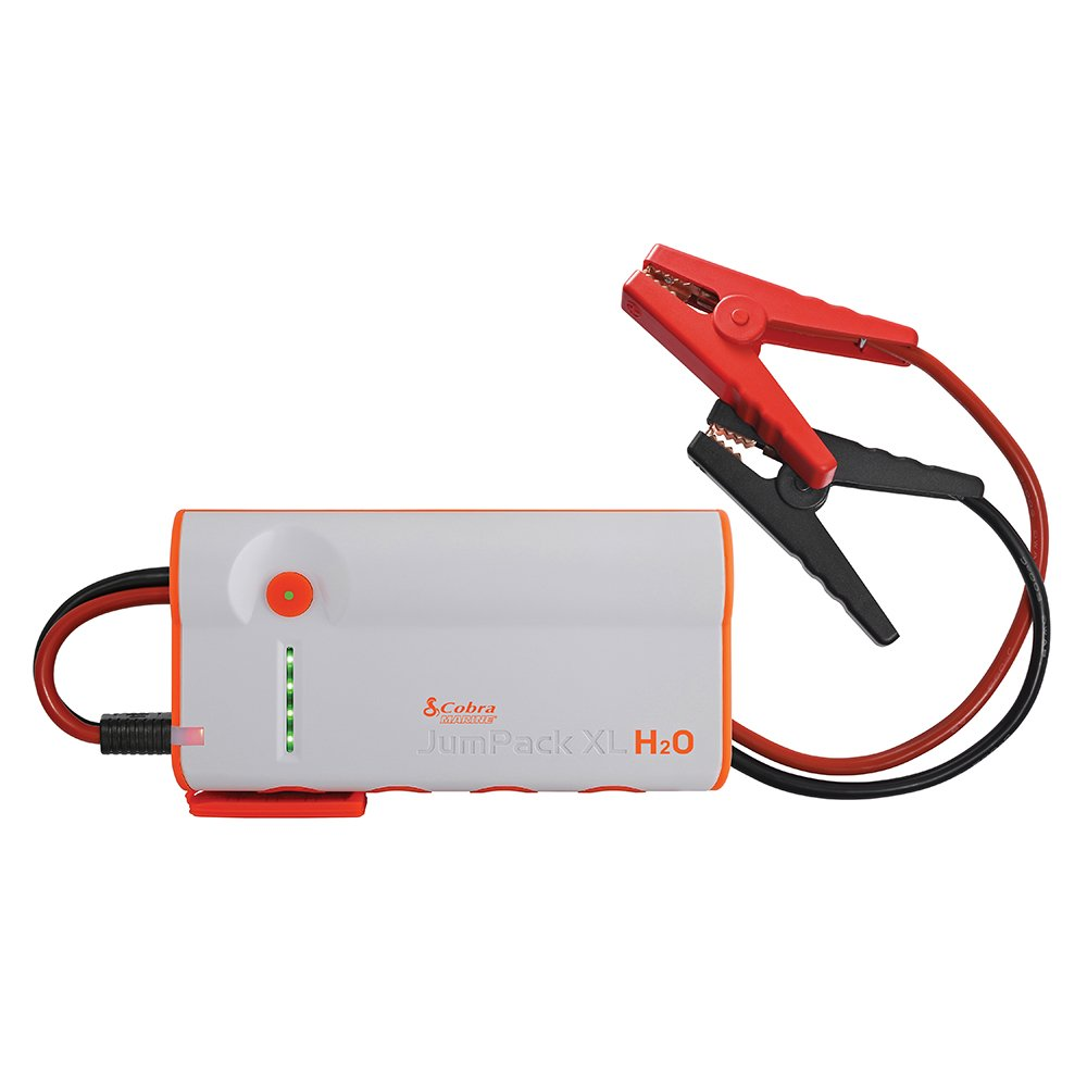 Cobra JumPack H2O 3-in-1 Portable Power Jump Starter: Battery Charger, Power Pack & LED Flash Light with Jumper Cables, 600 Amp Peak, 12000mAh for Instant Power to Car, SUV, Motorcycle or Boat