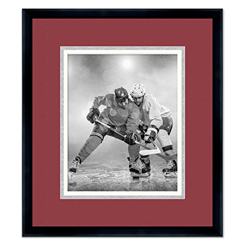 Sports Frames Colorado Avalanche Black Wood Picture Frame with Avalanche Triple Mat Made to Display 5