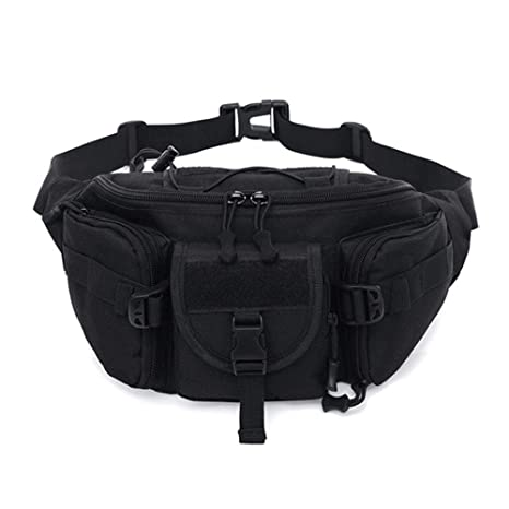 6c6cc3599626 Amazon.com: Multifunction Waist Pack Pouch for Men Women Male ...