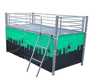 Para niños de diseño de FoxHunter Metal para niños tienda de campaña para cama individual de madera de pino con litera 91,44 cm colchón New Boy sin