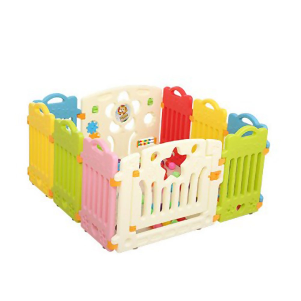 VORCOOL Baby Playpen Safety Play Yard Playpen Activity Center for Babies and Kids for Home Indoor Outdoor