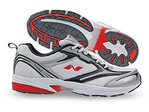 Nivia New Snake Jogger shoe, Men's 10 UK (White/Silver/Black)