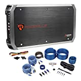 Package: Rockville RXA-F2 Car Amplifier 2400 Watt Peak 4 Channel Bridgeable With Protection Circuitry + Rockville RWK42 4 Gauge 4 Channel Complete Wire Kit With (2) RCA Cables
