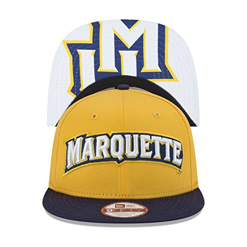 35c21a223670b Marquette Golden Eagles Flip Up Snapback Cap - Gold