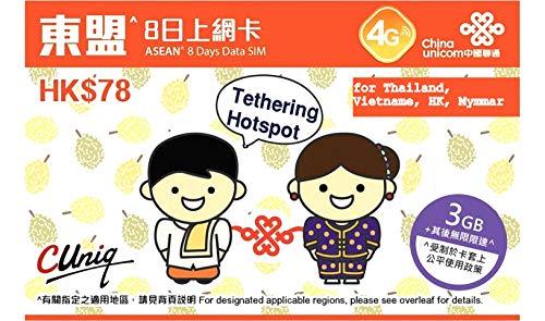 China Unicom - 2 unidades Tailandia, Hong Kong, Vietnam ...