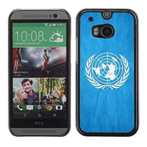 Shell-Star ( National Flag Series-United Nations ) Snap On Hard Protective Case For All New HTC One (M8)