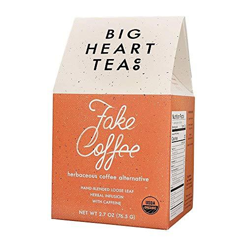 Big Heart Tea – Fake Coffee, Organic Loose Leaf Tea, Herbal Infused, Small Batch, All-Natural Caffeine, Raw Cacao Tea…