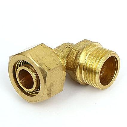 eDealMax 1 / 2BSP 90 Grado Male codo de tubo acoplador de conector Tone Brass - - Amazon.com
