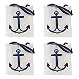 12 Nautical Anchor Tote Bags - Large 17x15 inch - Nautical Wedding and party supplies
