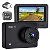 """Rove R1 Dash Cam 1080P WiFi-Enabled Car DVR Dashboard Camera Recorder with 2.45"""""""