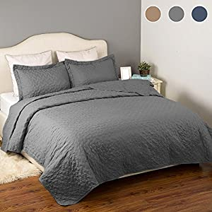 Quilt Set Solid Grey Full/Queen(86