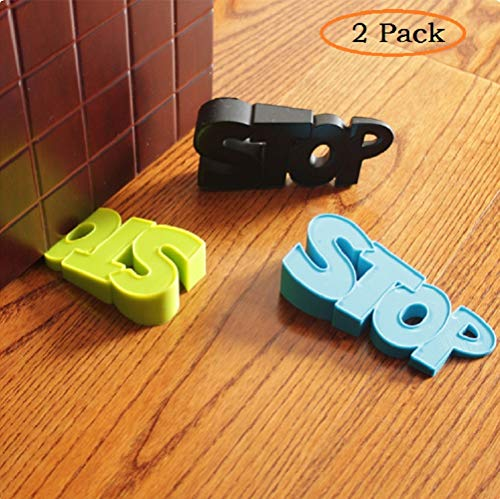 2 Pcs Rubber Door Stopper Wedge Finger Protector Works on All Surfaces, Non Scratching,Anti-Slip Design Prevents Door from Slamming Shut,Child Safety Guards by BabyPrice