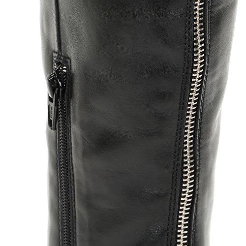 Alesya Cm Spids Scarpe Hud Og Rack Scarpe Bagside 12 Aflang Ved Sort Hæle Boot ggr8q7xSw
