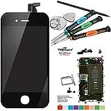 Trop Saint®LCD para el iPhone 4 Color Negro Pantalla COMPLETA Black Incluye Herramientas para el Montaje