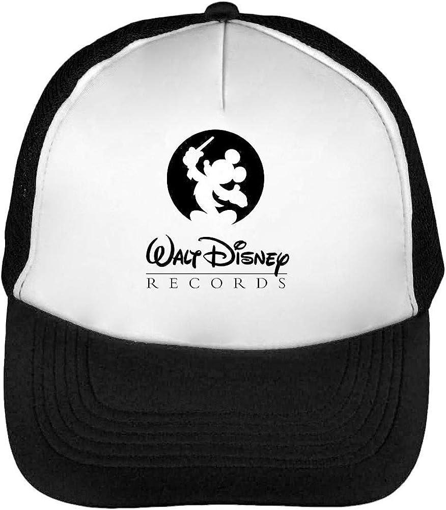 Walt Disney Records Gorras Hombre Snapback Beisbol Negro Blanco ...